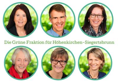 Mitglieder des Grünen Fraktion